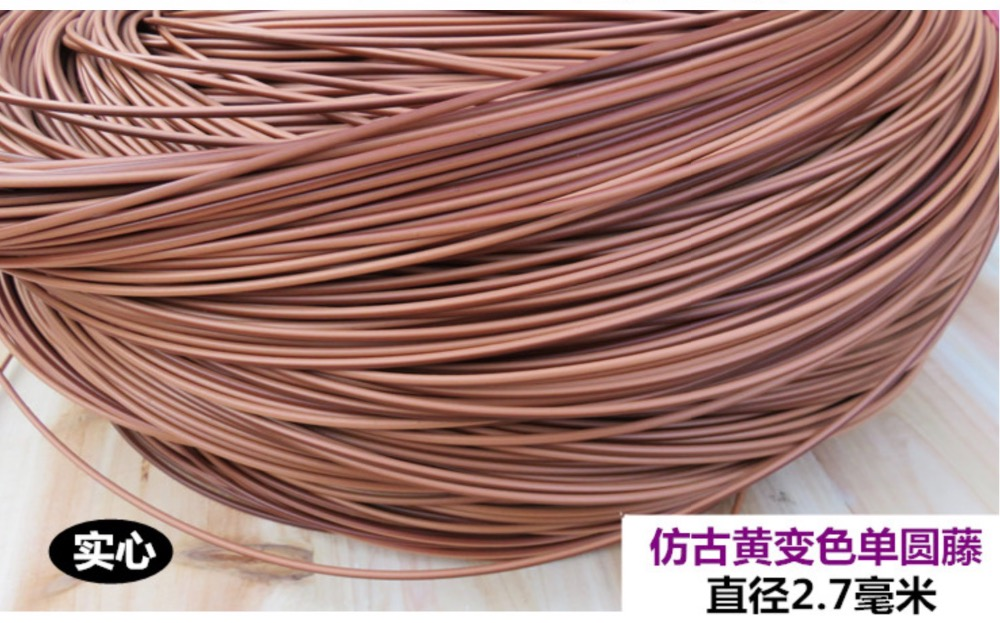 60Meters/lot  Diameter:2.7mm  Simulation Round Rattan Knit Handmade Cane Chair Repair Plastic PE PVC Vines