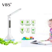 Foldable Adjustable Desk Lamp Table with Calendar Temperature Alarm Clock Atmosphere table lamp Book Light Student Children lamp