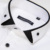 CAIZIYIJIA Verão 2016 Único Duplo-collar dos homens Camisas de Vestido de Manga Curta Branco-Sólida Slim-fit Conforto Camisa de Algodão macio