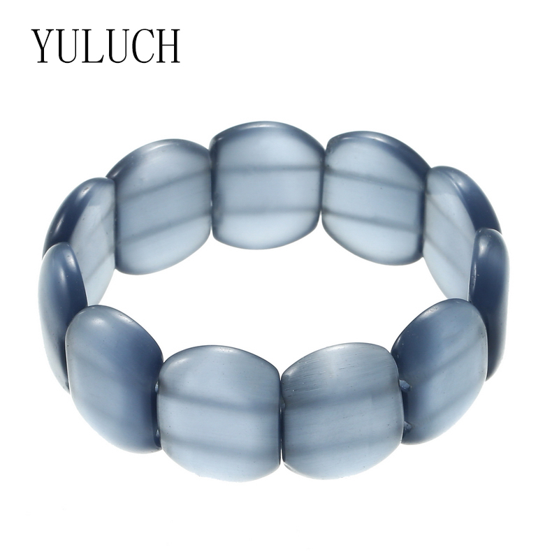 YULUCH 5 Colors Original Cat's Eye Translucent Stone Simple