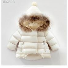2017 New Baby Girls Boys Down Jackets Winter Kids Thickening Warm Hooded Children Outerwear Coat White Black Red
