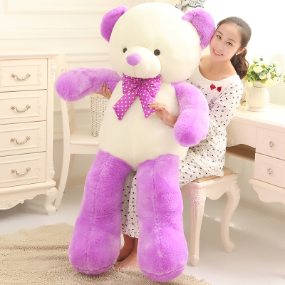 lovely bowtie design  teddy bear plush toy soft hug toy hugging pillow 160cm ,Christmas gift x207 lovely giant panda about 70cm plush toy t shirt dress panda doll soft throw pillow christmas birthday gift x023