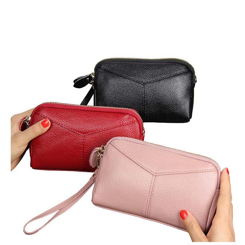 New leather ladies wallet Korean fashion long clutch bag mobile phone multi-color optional