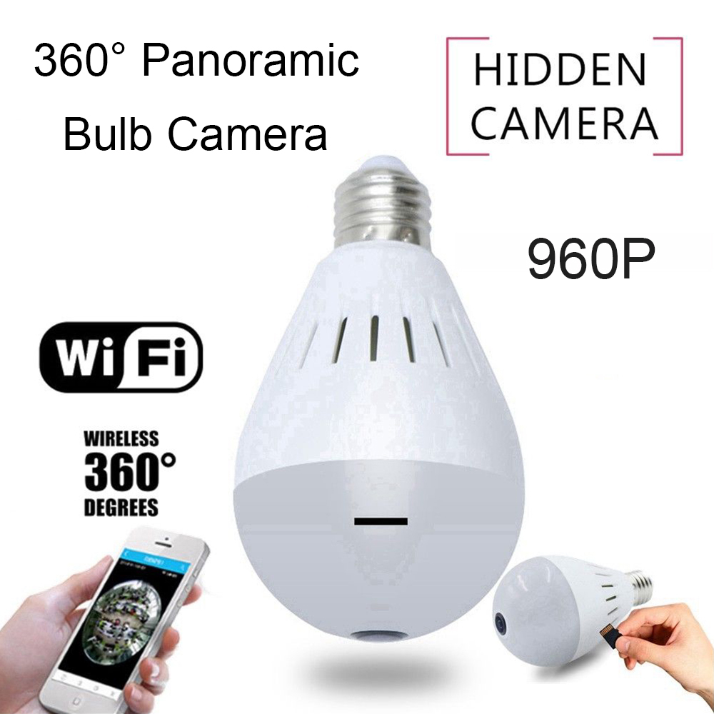 360 Degree HD 960P Panoramic Fisheye Security Surveillance WiFi Surveillance Lamp IP CCTV Camera Light Bulb Indoor Video Cameras wifi ip bulb camera 360 fisheye panoramic bulb camera 1 3mp 960p cctv video surveillance wifi security camera