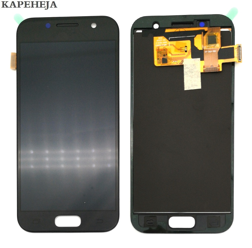 Galleria fotografica Can adjust brightness LCD For Samsung Galaxy A3 2017 A320 A320F LCD Display Touch Screen Digitizer Assembly