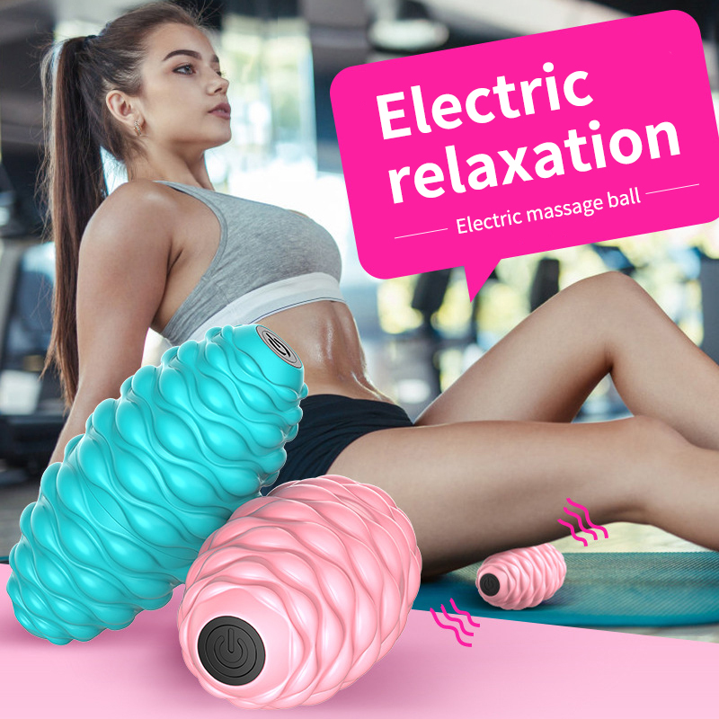 Procircle Electric Massage Ball Speed Vibrating Massage Ball Foam Roller Muscle Tension Pain Pressure Relieving Fitness Massage