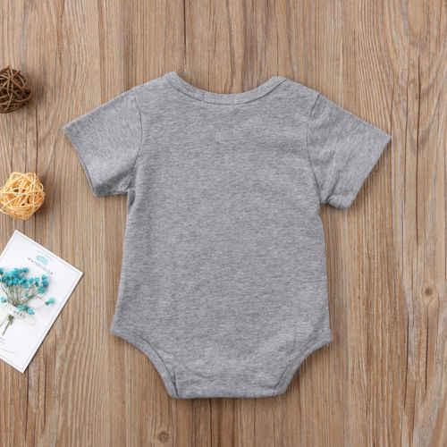 طفل صبي فتاة الوليد رومبير الجدة قصيرة الأكمام بذلة طفل رضيع الملابس الزي 0-24 متر 2018 صيف جديد