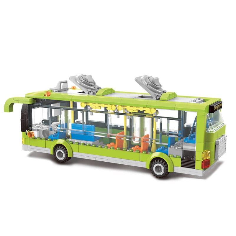 Enlighten 1121 City Bus Station Bricks Toys 418PCS Building Block sets Toys 2017 enlighten city bus building block sets bricks toys gift for children compatible with lepin