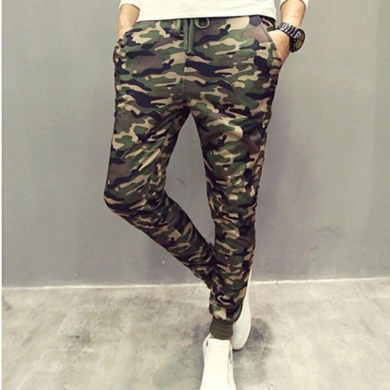 Big Promotion 2017 Mens Fashion sweatpants Pants Camouflage Fashion Pure Cotton Harem Pants Men Slim Printing