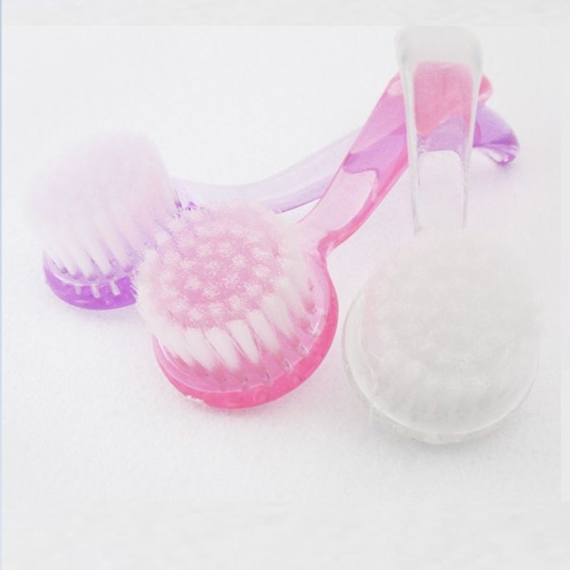 1 Pcs Plastic Nail Dust Clean Cleaning Brush Pedicure Round Head Cleaning Brush Nail Accesories Tools new blinds clean brush air conditioning dust collector window cleaning brush home cleaning tools air conditioning cleaning