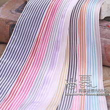 100yards 10/16/25/40mm small thin stripes korean ribbon for hair bow diy accessories package bouquet flower packing supplies