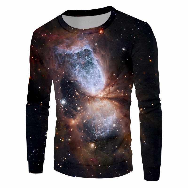 Ogкб унисекс хип-хоп свитеры с v-образным вырезом Модные парные Джемперы для женщин/мужчин 3D Толстовка Звездная ночь толстовки с капюшоном, с принтом; толстовки