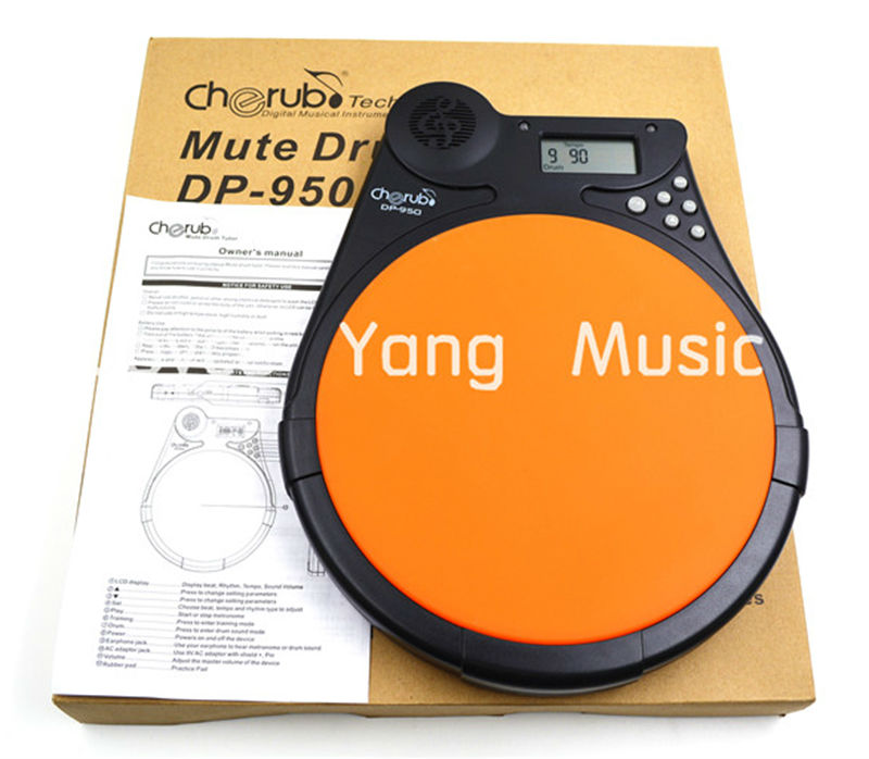 Cherub DP 950 Digital Drum Tutor Pad Metronome Drum Sound Training Practice Pad
