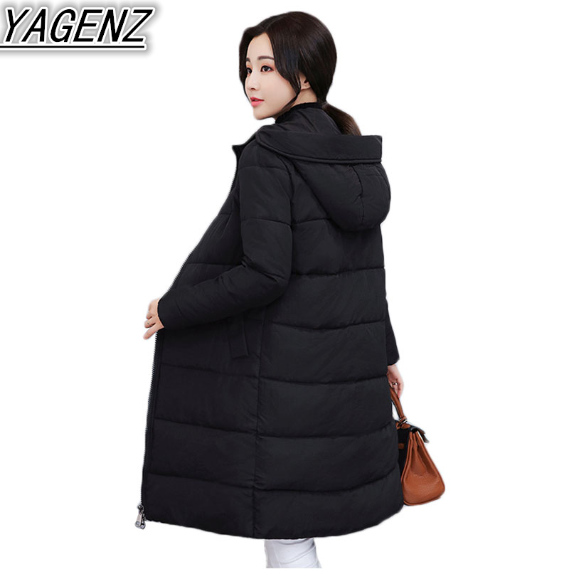 Long section Winter Jackets Women Thicken Warm Down Jacket Coat 2018 Fashion Hooded Cotton-padded Coat Women Plus size Outerwear women winter jackets down cotton knee x long star coat female hooded thicken padded outerwear lady down parka plus size lq088
