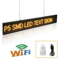 20 inch P5 Doprowadziły Podpisać Moduł SMD Przewijanie Wiadomość Wyświetlacz LED Pokładzie z Metalowy Łańcuch, siłownia Odliczanie czasu wewnątrz sklepu advertisin