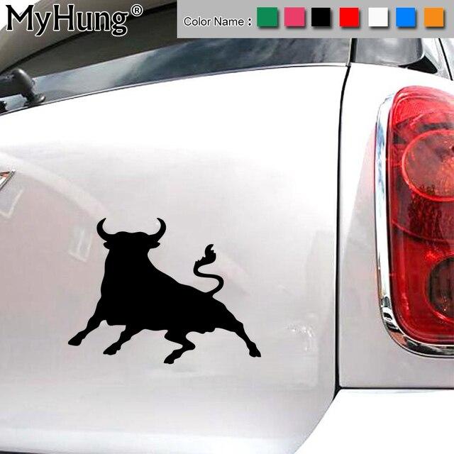 1410 6cm waterproof spanish bull car sticker fashion sticker creative animal reflective multi color