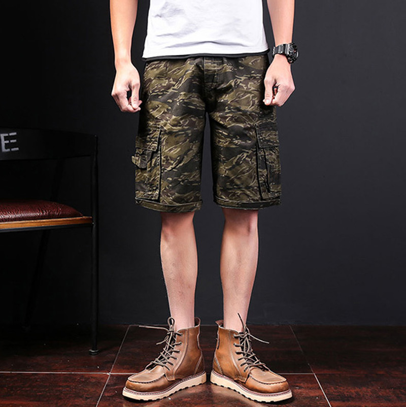 2018 summer new style men shorts camouflage shorts shorts cotton polyester army green men casual cargo shorts