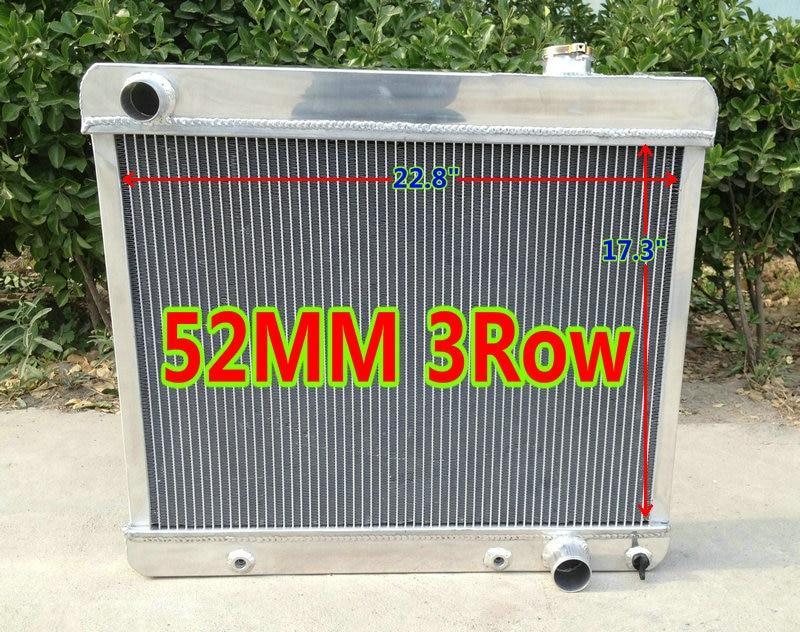 3 Row Aluminum Radiator Fans for 1963-1966 CHEVY GMC C10//C20//C30 Pickup truck