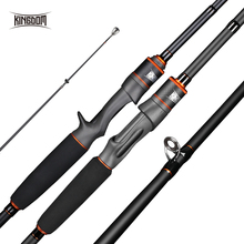 Kingdom Keel III Carbon Spinning High Quality Fishing rods M MH 2.4m 2.7m 3m Casting Feeder rod Fast Action Travel rods For Bass