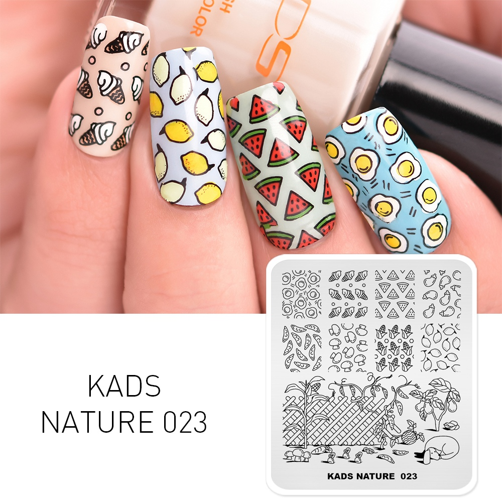 KADS Nature 023 Pattern Nail Stamp Templates Nail Art Stamping Plate Image Template Tools For Printing  DIY Manicure Stencils