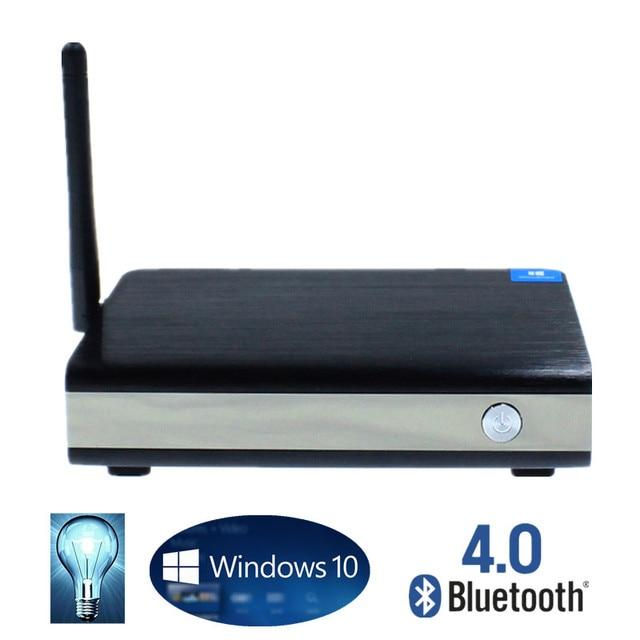 Computador Industrial Mini PC Windows 10/8. 1 2 GB/32 GB VGA/HDMI Quad Core Mini PC BT4.0 Baixo Consumo de Energia wi-fi Mini PC