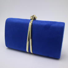 49a48429c1 Nuphia Suede Evening Clutch Bags and Party Clutches Evening Bags for Women  Yellow Royal Blue Orange