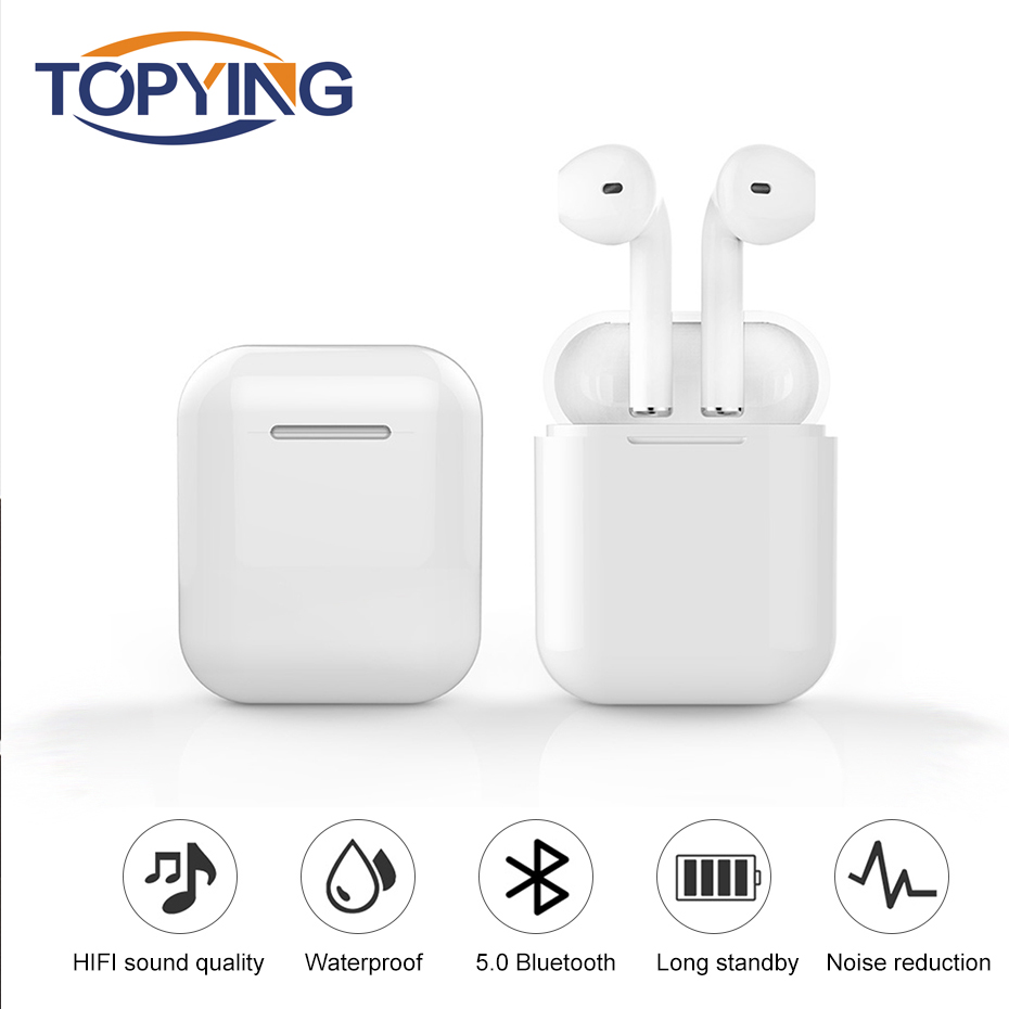 Bluetooth Headphone Mini Wireless In-ear Earbuds Earpiece Cordless Handsfree Earphone Sport Stereo Headset for Android IOS Phone 5pcs bluetooth 4 1 wireless sports earbuds in ear sport headset stereo earphone hands free headphone for work business driving