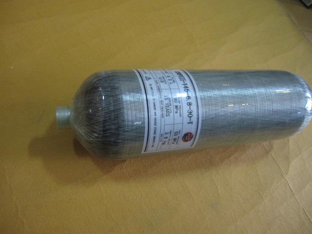 9L 30mpa Respiración Respiración 4500psi de Alta Presión Del Cilindro/Cilindro De Gas Del Tanque de Fibra de Carbono Compuesto//Botella de Aire Comprimido-C