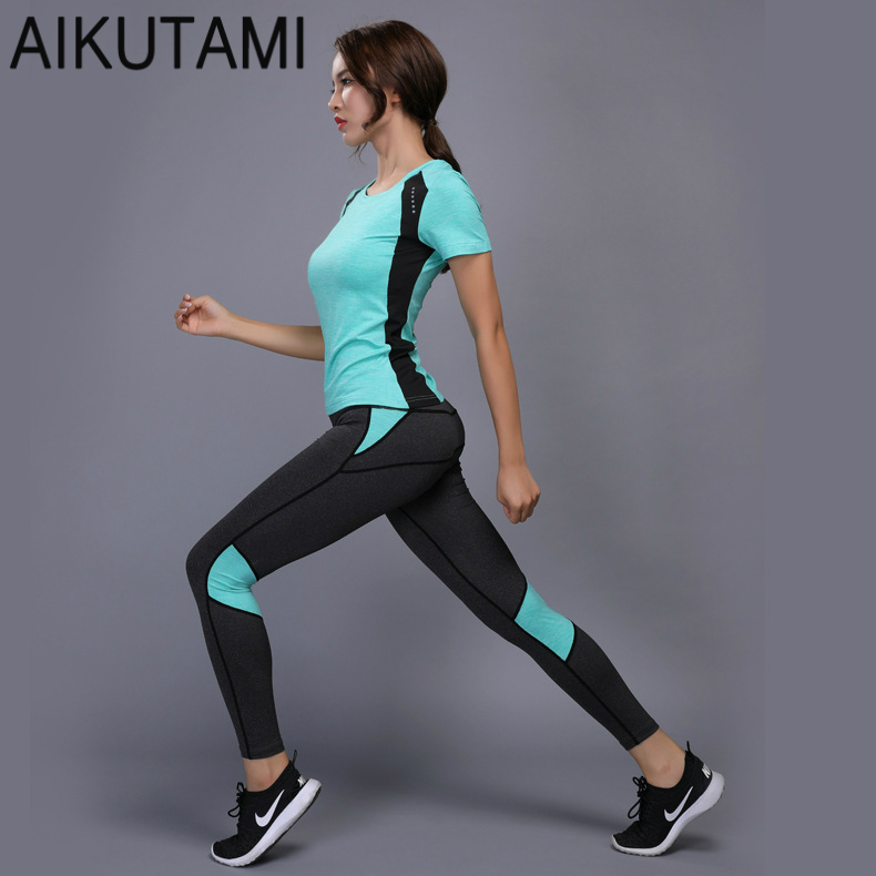 Women Yoga Set Gym Fitness Clothes Tennis Shirt+Pants Running Tights Jogging Workout Yoga Leggings Sport Suit Sportswear все цены