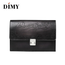 Dimy Famous Brands Vintage Day Clutch Bag For Men 2019 Over Lock Purses and Handbags Genuine Leather Men's Bag Crossbody Bags недорго, оригинальная цена