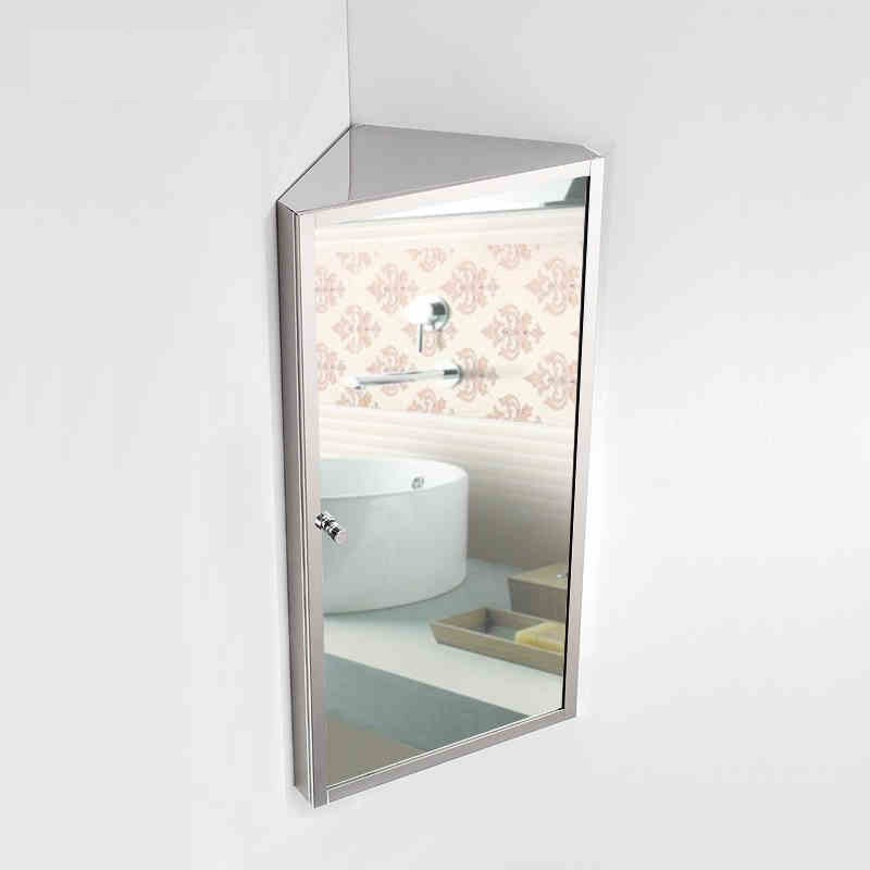 Free Shipping Stainless Steel Bathroom Mirror Cabinet Box Corner Locker In Bath Mirrors From Home Improvement On