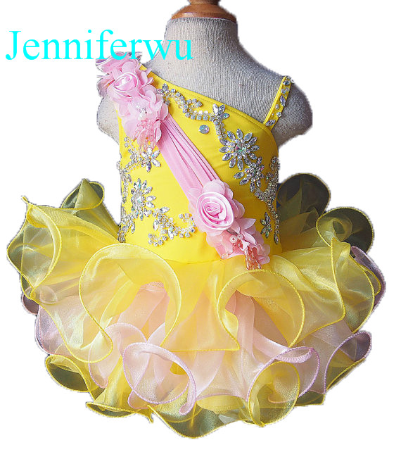 цена stone beaded  infant and toddler girl pageant dress 1T-6T G093 онлайн в 2017 году