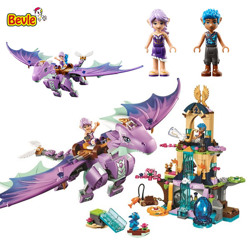 Bevle 10549 Bela The Dragon Sanctuary Kid Toys Model Building Kits Block Bricks Compatible With LEPIN 41178 lepin 22001 pirate ship imperial warships model building block briks toys gift 1717pcs compatible legoed 10210