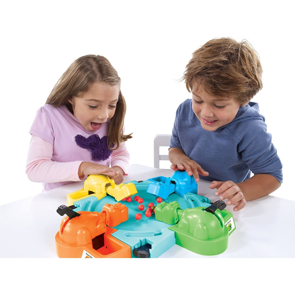H&Joy Parent-child Interaction Toys Feeding Hippo Swallow Beads Table Game Hungry Hippo Child Educational Toys Gift For Kids