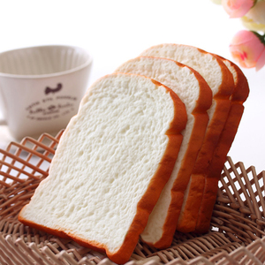 Image 1 - 1 шт., хит, 14 см, большой мягкий аромат, нарезанный хлеб, тост, детская игрушка, ручная Подушка, подарок, украшения, миниатюрные Детские кухонные игрушки