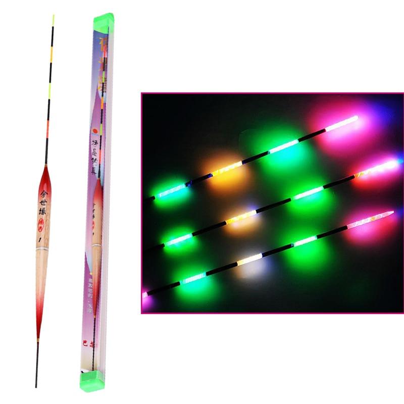 3pcs/set Fishing Float LED Floating Fishing Floats Electric Light Fishing Tackle Luminous Electronic Float without Battery
