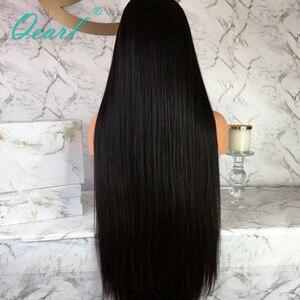 """Image 5 - Perulu Remy Saç Dantel ön peruk Süper Uzun 24 """"26"""" 28 """"30"""" 32 """"Kalın Yoğunluk Ipek düz insan saçı Orta Kısmı 13x4 Qearl"""