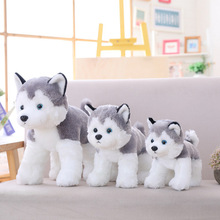 25-30cm Cute Husky Plush Toys Simulation Stuffed Animal Doll Kids Baby Dolls Birthday Presen