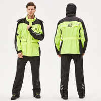Polo abrigo de lluvia de deportes al aire libre chaqueta moto Impermeable traje de motocross Impermeable de pesca Impermeable negro AR820 y AR836