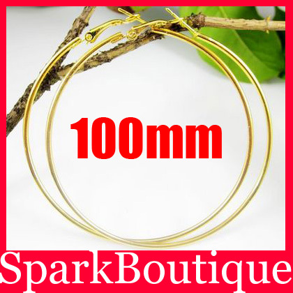 (10% off on wholesale) 100mm Paparazzi Basketball Wives Large Big Hoop Earrings Big Circle Earrings