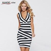 3XL Women Summer Dress 2015 Sexy Hip Stripe Pencil Dress Plus Size Desigual Casual Long Dress