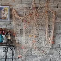 2015 Hot Fashion Nautical Fishing Net Seaside Wall Beach Party Sea Shells Home Garden Decor