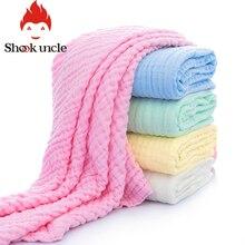Хлопок, ультра мягкое детское банное полотенце, детское моющееся газовое осеннее одеяло для новорожденных, детское полотенце для душа для мальчиков и девочек, 6 слоев, 110*110 см