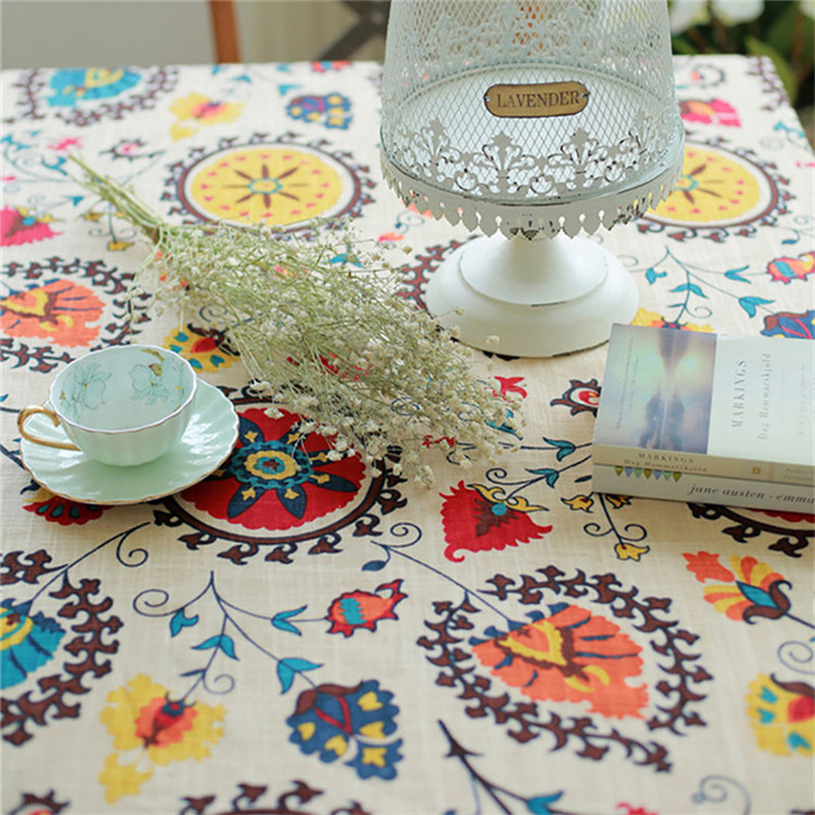 National wind explosion models cotton linen tablecloths Sun flower table cloth tablecloth Table Covers for Wedding Party Home 11