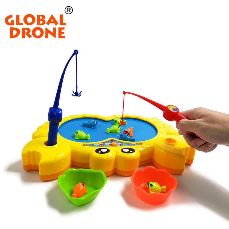 Fishing Game Toy : Global drone pcs magnetic fishing toy set electric