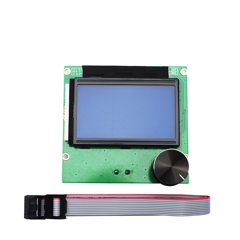ender 3 cr10 <font><b>cr10s</b></font> Controller RAMPS 1.4 LCD 12864 Display blue screen+Cable For <font><b>CREALITY</b></font> 3D Ender-3 CR-10 CR-10S printer Parts image