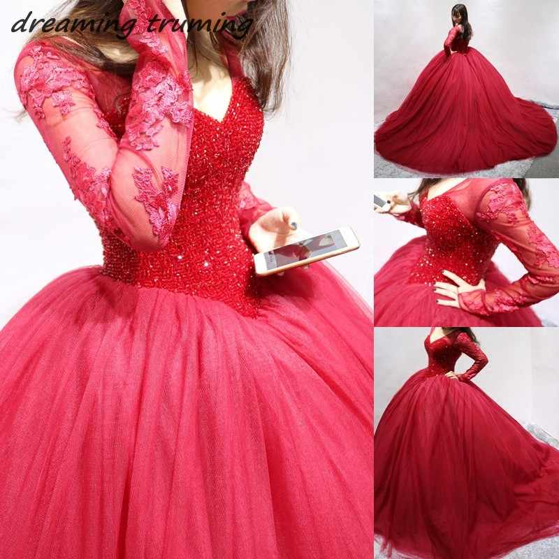 a5f93cef15cc Puffy Crystals Ball Gown Wine Red Quinceanera Dresses 2019 Vestidos De 15  Anos Debutante Burgundy Quinceanera