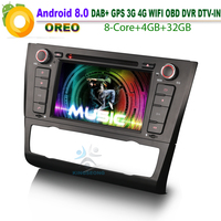 Android 8.0 DAB+OBD DVD CD SD BT USB WiFi 3G RDS Car GPS Navigation Player For BMW 1 Series E81 E88 E82 Coupe Convertible DTV IN
