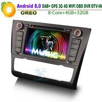 Android 8.0 dab + OBD DVD CD SD BT USB Wi Fi 3G RDS автомобиль GPS навигации плеер для BMW 1 серии E81 E88 E82 купе DTV IN