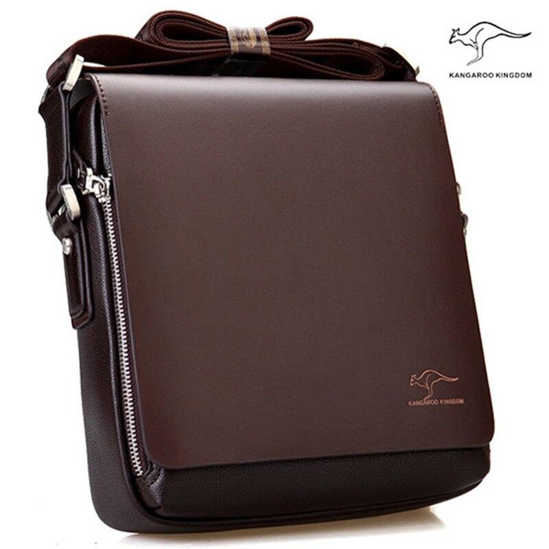 New Arrived Brand Kangaroo Men S Messenger Bag Vintage Leather Wtih Pu Shoulder Bag Handsome Crossbody